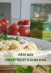 pâte aux crevettes et fleurs d'ail