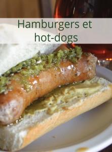 Fleurs d'ail dans les hamburgers et les hot-dogs