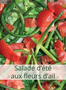 salade d'été aux fleurs d'ail
