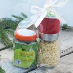Paquet cadeau moulin ail du Québec déshydraté + fleurs d'ail fermentées