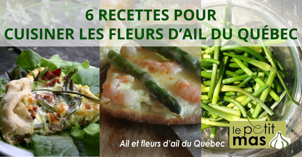 6 recettes pour cuisiner les fleurs d'ail du Québec
