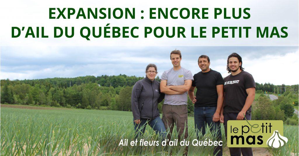 Expansion d'entreprise agricole: Encore plus d'ail du Québec pour Le Petit Mas