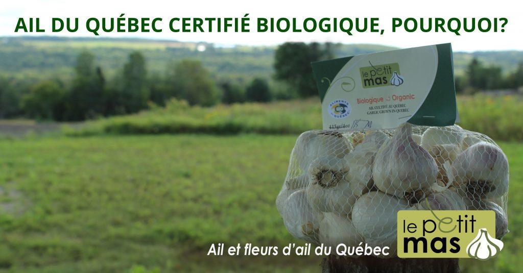 pourquoi choisir l'ail du Québec certifié biologique