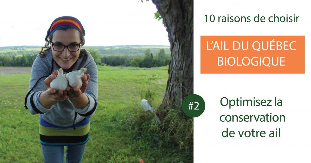 optimisez la conservation de l'ail du Québec